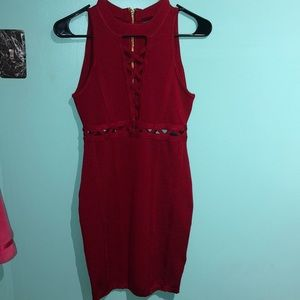 Red Bodycon dress - never worn
